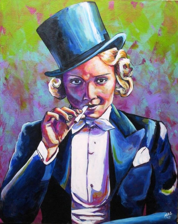 Marlene Dietrich Top hats and tails by Thea Mcelvy