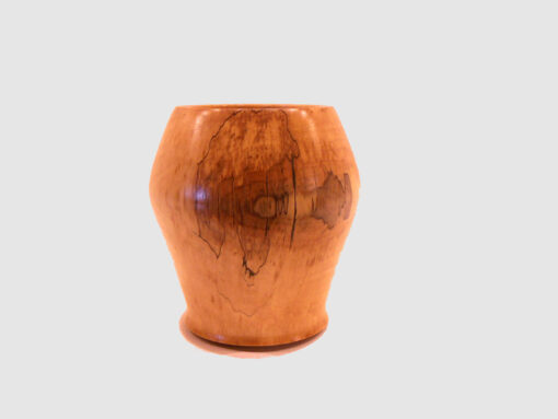 Saplted Maple Vase by Harold Lawrence front HL18