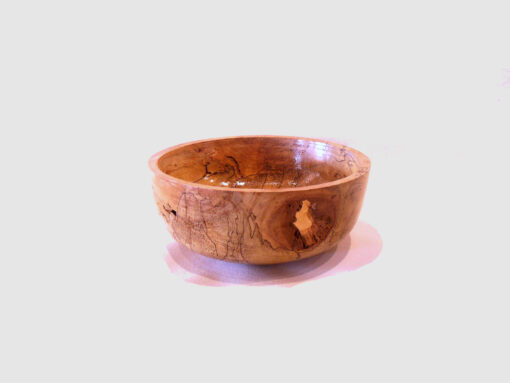 Spalted Willow Bowl by Harold Lawrence side HL07