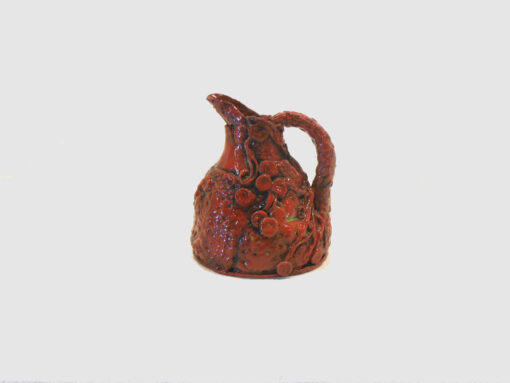 Small Red Pitcher by Janet McGregor Dunn
