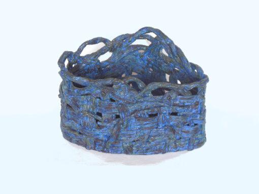 Triangular Blue Basket by Janet McGregor Dunn front